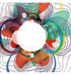 abstract colorful wave threads design vector image