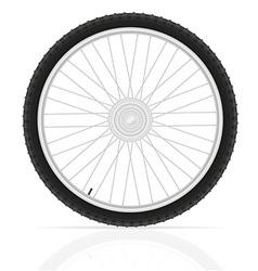 bicycle wheel 02 vector image