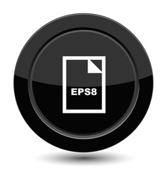 Button with EPS8 vector image vector image