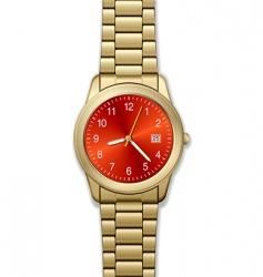 Gold watch vector