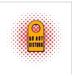 Label do not disturb comics icon vector image