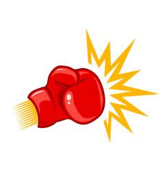 retro logo for boxing vector image