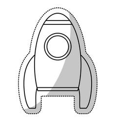rocket transport space outline vector image