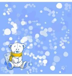 Wintertime bear vector