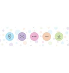 5 hair icons vector