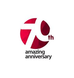 70 th amazing anniversary celebration template vector
