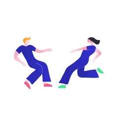 a couple dancing a guy and vector image