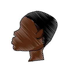African man silhouette vector