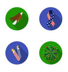 American eagle ribbon salute the patriot s day vector
