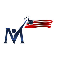 American independence day initial m vector