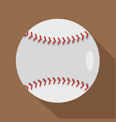 Ball for playing baseball icon flat style vector