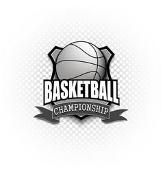 basketball logo template design vector image