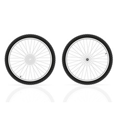 bicycle wheel 03 vector image