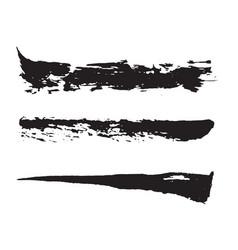 black paint brush strokes vector image