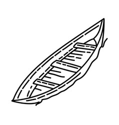 boat icon doodle hand drawn or outline icon style vector image