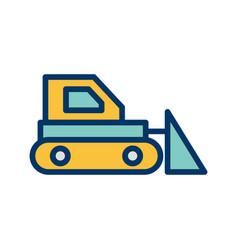 Bulldozer icon vector