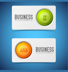 button cards banners set vector image