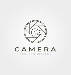 camera lens pet photography logo icon symbol vector image