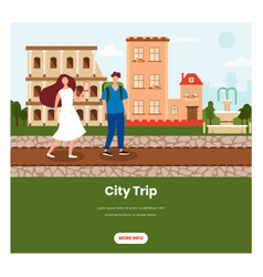 city trip web banner design template vector image