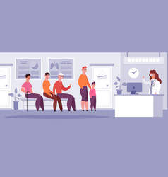 clinical waiting room doctor medical appointment vector image