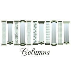 Columns with a pattern set vector