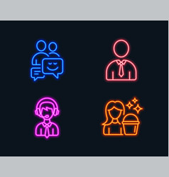 Communication human and shipping support icons vector
