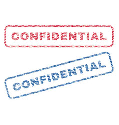 Confidential textile stamps vector