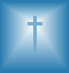 cristian cross over bright light vector image