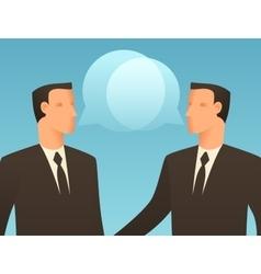 Dialogue business conceptual vector