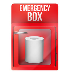 Emergency box with toilet roll paper vector