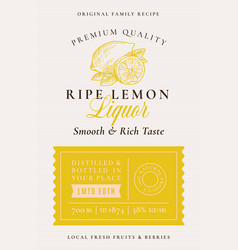 Family recipe lemons liquor acohol label abstract vector