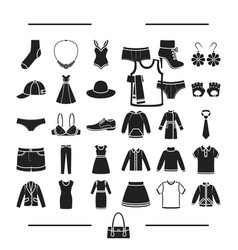 Fashion lingerie decorations and other web icon vector