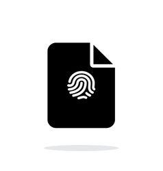 File with fingerprint icon on white background vector