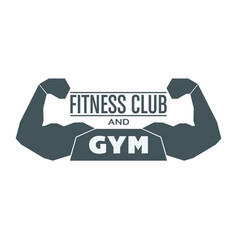 Fitness and gym image vector