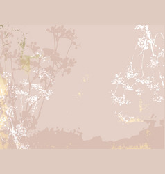 floral rustic background with hand drawn doodle vector image