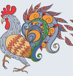 Freehand drawing of the rooster vector image