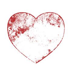 grunge heart shape vector image
