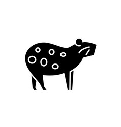 guinea pig black icon sign on isolated vector image