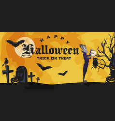 halloween backgrounds with vampire and their vector image