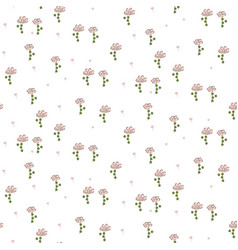 Hand drawn ditsy flowers modern pattern seamless vector