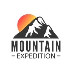Hand drawn Mountains Logo set Ski Resort vector