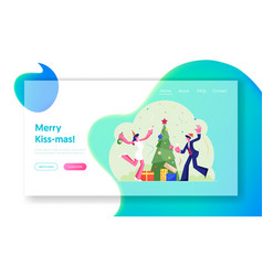 happy company colleagues or business people vector image