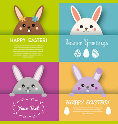 Happy easter greeting card background vector