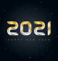 happy new year 2021 background with gold and vector image