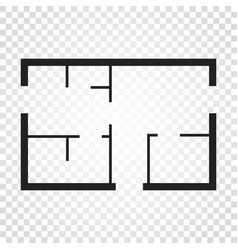 house plan simple flat icon on white background vector image