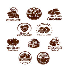 Icons set for chocolate desserts vector