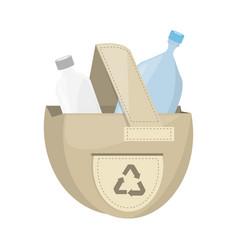isolated ecologic bag vector image