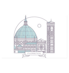 italy florence architecture line skyline vector image