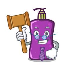 Judge shampo mascot cartoon style vector