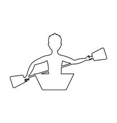 kayak extreme sport icon vector image